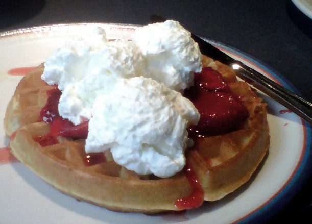 Waffles, breakfast dessert
