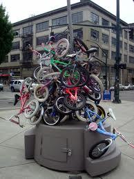 Bike art at Burnside and 13th avenue, Portland OR