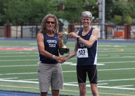 Doug Smith & Paul Osland, Presiden of Canadian Masters Athletics (3rd term)
